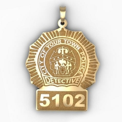 Personalized Detective Badge w  Your Number   Department