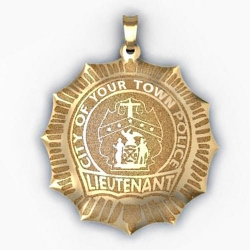 Personalized Lieutenant Badge w  Your Department