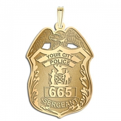 Personalized Sergeant Badge w  your Department Name