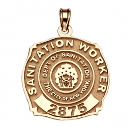 Personalized Sanitation Worker Badge