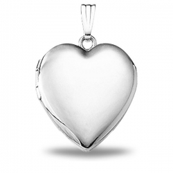 Solid Sterling Silver Heart Locket