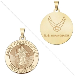 Saint Christopher Doubledside AIR FORCE Medal  EXCLUSIVE