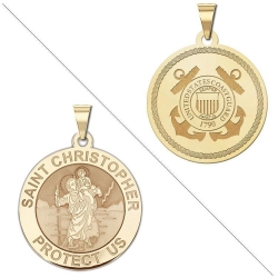 Saint Christopher Doubledside COAST GUARD Medal  EXCLUSIVE