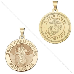 Saint Christopher Doubledside MARINES Medal  EXCLUSIVE