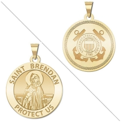 Saint Brendan Doubledside COAST GUARD Medal  EXCLUSIVE