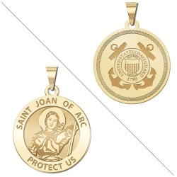 Saint Joan of Arc Doubledside COAST GUARD Medal  EXCLUSIVE
