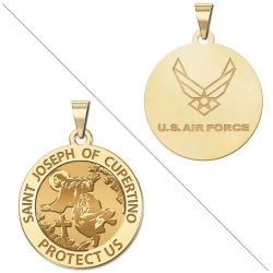 Saint Joseph of Cupertino Doubledside AIR FORCE Medal  EXCLUSIVE