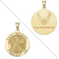 Saint Michael Doubledside AIR FORCE Medal  EXCLUSIVE