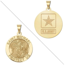Saint Michael Doubledside ARMY Medal  EXCLUSIVE