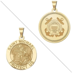 Saint Michael Doubledside COAST GUARD Medal  EXCLUSIVE