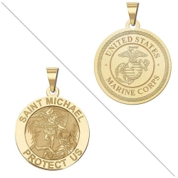 Saint Michael Doubledside MARINES Medal  EXCLUSIVE