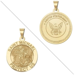 Saint Michael Doubledside NAVY Medal  EXCLUSIVE