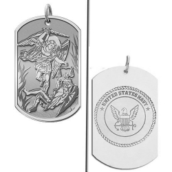Saint Michael Doubledside NAVY Dogtag Medal  EXCLUSIVE