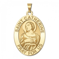 Saint Catherine of Alexandria OVAL Medal   EXCLUSIVE