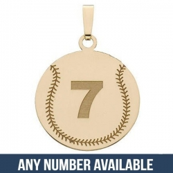 Custom Softball Pendant w   Number