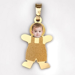 MyKids  Boy with Photo Pendant and Charm