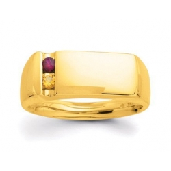 Gold 2 Stone Father s Ring