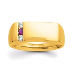 Gold 3 Stone Father s Ring
