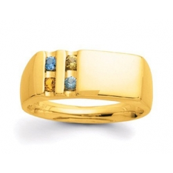 Gold 4 Stone Father s Ring
