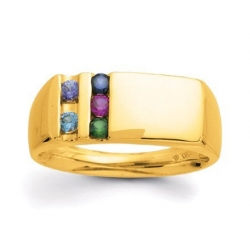 Gold 5 Stone Father s Ring