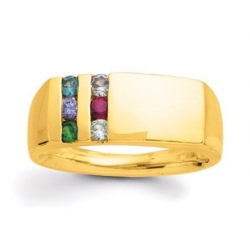 Gold 6 Stone Father s Ring