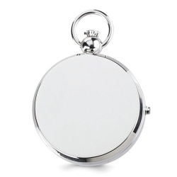 Charles Hubert Double Engraving Photo Pocket Watch