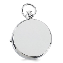 Charles Hubert Double Engraving Quartz Photo Pocket Watch