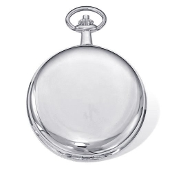 Charles Hubert Photo Chrome Tone Premium Pocket Watch