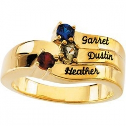 3 Stone Mother s Personalized Ring