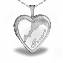 Sterling Silver Heart  Forever  Couple Locket