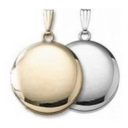 Build Your Own 14K Gold 2 Picture Round Locket