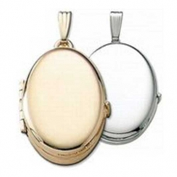 Build Your Own 14K Gold 4 Picture Oval Locket