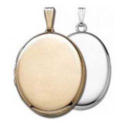 Build Your Own 14K Gold 2 Picture Oval Locket