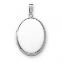 Build Your Own Sterling Silver 2 Picture Oval Locket