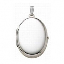 Build Your Own Sterling Silver 4 Picture Oval Locket