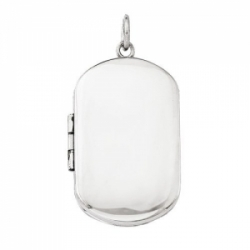 Build Your Own Sterling Silver 2 Picture Dog Tag Locket