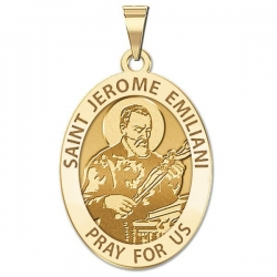 Saint Jerome Emiliani Oval Medal   EXCLUSIVE
