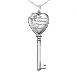 Sterling Silver  Key to my Heart  KEY Locket