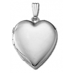 14k White Gold  Sweetheart  Heart Locket