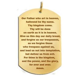 Lord s Prayer  Dog Tag Block Pendant