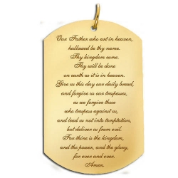 Lord s Prayer  Dog Tag Script Pendant