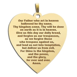 Lord s Prayer  Heart Pendant