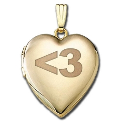 Solid 14K Yellow Gold  Sweetheart   3 Locket