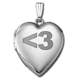 14k White Gold Sweetheart   3   Locket
