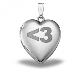 Sterling Silver Sweetheart   3  Heart Locket