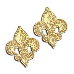 Fleur de Lis Post Earrings