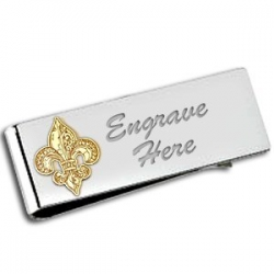 Fleur de Lis Two Tone Money Clip