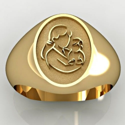 Mother and Son Oval Shaped  Mother s Ring