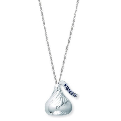 Sterling Silver Hershey s Kiss 3D Pendant with Chain