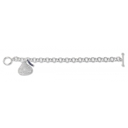 14K White Gold Hershey s Kiss Bracelet w  1 Diamond Kiss Charm